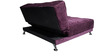 Mini Premium Queen-Size Bed Cum Sofa Lounger in Purple Colour  by Furny