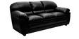 Mirage Three Seater Sofa in Black Colour by HomeTown