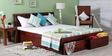 Amarillo Queen Bed with Storage Honey Oak Finish by Woodsworth