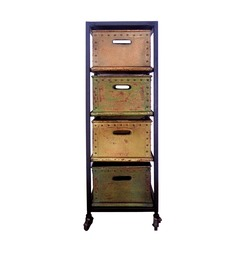 Mint Chest Of 4 Drawer Mobile Trolley