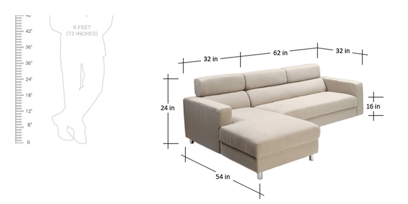 L Shaped Sofas Dimensions Of L Shaped Sofa Hereo Sofa Modern L