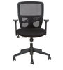 Mid Back Ergonomic Chair with Lumbar Support in Black Colour by Star India