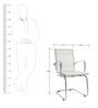 Mid Back Fixed Chair in White Colour by FabChair