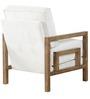 Cartagena Beige One Seater Sofa in Brown Finish by CasaCraft
