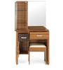 Mike Dressing Table with Stool in Brown Colour by @Home