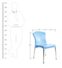 Milano Cafeteria Chair Set of Two in Blue Colour by Cello