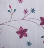 Milano Home White Cotton Romantic Sheer Curtain