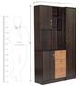 Minato Three Door Kitchen Cabinet with Three Drawers in Wenge and Oak Finish Mintwud