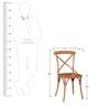Alva Metal Chair in Brown Color by Bohemiana