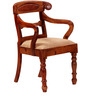 Hervey Arm Chair in Honey Oak Finish by Amberville
