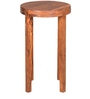 Mirage Round Side Table with Walnut Finish by @home
