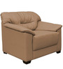 Mirly One Seater Sofa in Light Borwn Colour by Home City