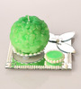 Candles N Beyond Green Pearl  Candle Set