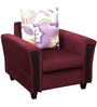 Mist One Seater Sofa in Wine Colour by HomeTown