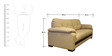 Mobil Three Seater Sofa in Beige Colour by Home City