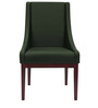 Modern Accent Chair with Montgomery Styled Arms in Green Colour by Afydecor