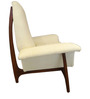 Modern Accent Chair with Padded Arms for Comfort in Cream Colour by Afydecor