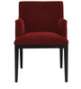 Modern Accent Chair with Wood Frame & Tapered Legs in Red Colour by AfyDecor