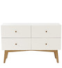 Modern Cabinet with Chic Wooden Knobs in White Colour by Afydecor