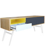 Modern Entertainment Unit with Storage in Grey & White Color by Afydecor