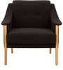 Modern Montgomery Arms Accent Chair in Black Color by Afydecor