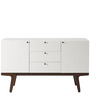 Modern Scandinavian Sideboard in Dual Tone in White Colour by Afydecor
