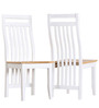 Modern Six Seater Dining Set in Two Tone by Afydecor