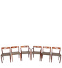 Modern Six Seater Dining Set with Curved Chair Backs for Comfort by Afydecor