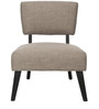Modern Slipper Chair with Slanted Wooden Legs