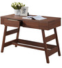 Modern Study Table in Trapezoid Design with Ladder Legs by AfyDecor