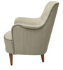 Modern Style High Back Chair in Light Grey Color by Afydecor