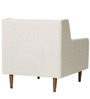 Modern Styled Accent Chair with Slanted Back and Tapered Wooden Legs by Afydecor