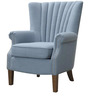 Modern Wingback Chair with a Concaved Back and Deep Stitchings by Afydecor
