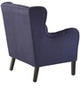 Modern Wingback Chair with Button Tufted and Square Back by Afydecor