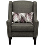Modern Wingback Styled Accent Chair with Wooden Square Tapered Legs by Afydecor