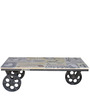 Yatela Coffee & Centre Table in Multi-colour top by Bohemiana