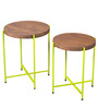 Pagosa Set of Tables in Acacia Finish by Bohemiana