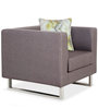 Monte Carlo One Seater Sofa in Grey Colour by Urban Living