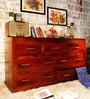 Edmonds Chest of Seven Drawers in Honey Oak Finish by Woodsworth