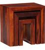 Olney Set of Tables in Honey Oak Finish by Woodsworth