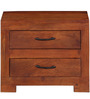 Kittitas Solid Wood Bed Side Table in Honey Oak Finish by Woodsworth