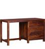 Winona Study Table in Honey Oak Finish by Woodsworth