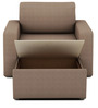 Morris One Seater Sofa Lounge in Brown Colour by ARRA