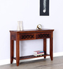 Mossyrock Console Table in Honey Oak Finish by Woodsworth