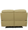 Motorized Two Seater Half Leather Recliner in Taupe Colour by Star India