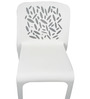 Moulded Chair in White Colour by Suvika Lifestyles
