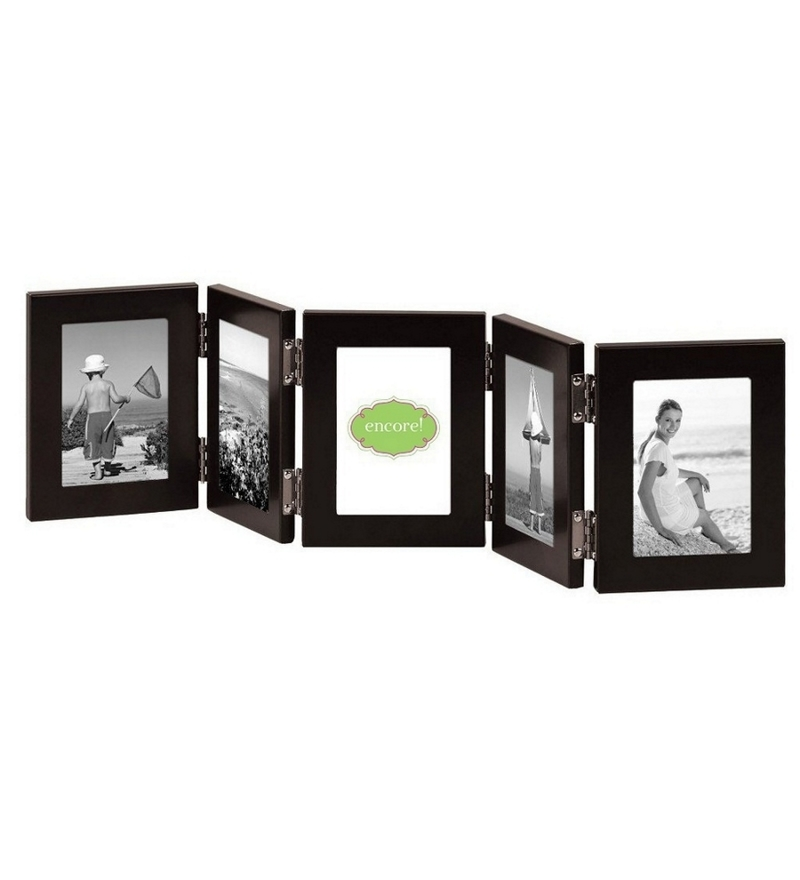 buy snap galaxy brown synthetic wood 5 x 7 inch folding photo frame online collage picture. Black Bedroom Furniture Sets. Home Design Ideas