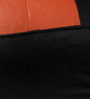 Muddha XXXL Sofa Bean Bag Cover without Beans in Black and Orange Colour by Sattva