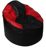 Muddha XXXL Sofa Bean Bag Cover without Beans in Black and Red Colour by Sattva