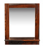 Mudra Yellow Sheesham Wood Rectangular Mirror